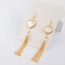 Fringed Pearl Earrings
