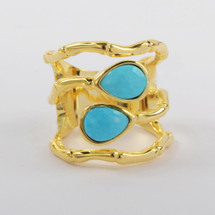 Equinox Ring: Natural Turquoise