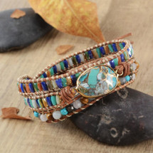 Bohemian Gypsy Leather Wrap Bracelet