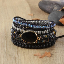 Rhapsody Leather Wrap Bracelet
