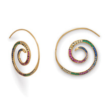 Spiral Rainbow Earrings *Sterling Silver*
