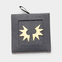 Starburst Earrings: Gold Or Silver