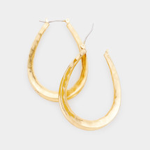 Oval Hoops: Gold Or Silver