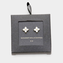 Little Floral Studs *24k dipped*: Gold Or Silver