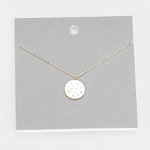 modern Disc Necklace: Gold Or Silver