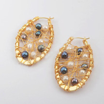 Wired Pearl Earrings