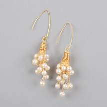 Natural Pearl Cluster Earrings