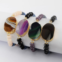 Natural Gemstone Cuff: More Colors