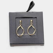 Gold Dipped Dangle Earrings: Gold Or Silver
