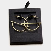 Gold Dipped Geometric Hoops: Gold OR Silver