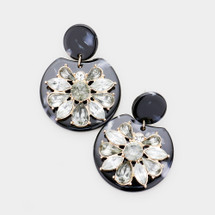 Noir Jeweled Earrings