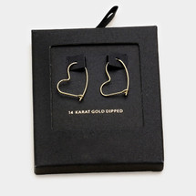 Gold Dipped Heart Strings Hoops