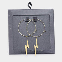 Gold Dipped Bolt Hoops: Gold Or Silver