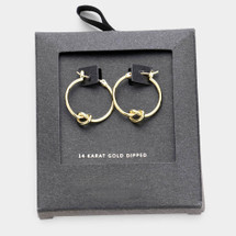 Gold Dipped Knotted Hoops