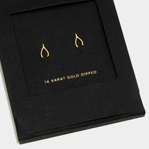 Gold Dipped Wishbone Earrings