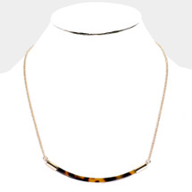 Tortoise Half Circle Necklace
