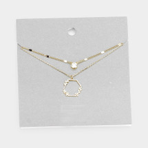 Laurel Layered Necklace: Gold Or Silver