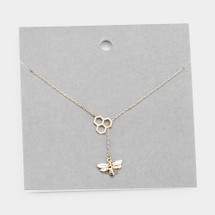 Honeybee Necklace: Gold Or Silver