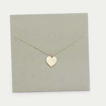 Heart Pendant Necklace: Gold Or Silver