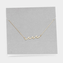 Wave Necklace: Gold Or Silver