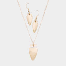 Arrowhead Long Necklace Set: Gold OR Silver
