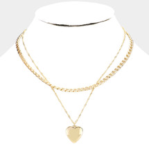 Only Heart Layered Necklace: Gold Or Silver