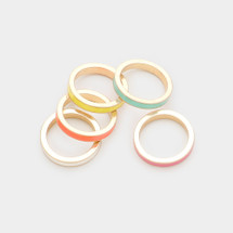 West Coast Enamel Ring Set