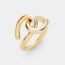 Knotted Up Ring: Gold Or Silver