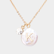 Freshwater Pearl Initial Necklace