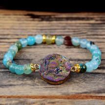 Galaxy Quartz Agate Bracelet