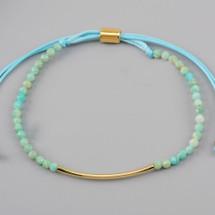 Amazonite Adjustable Beaded Bracelet