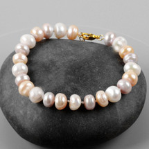 Natural Pastel Pearls Bracelet