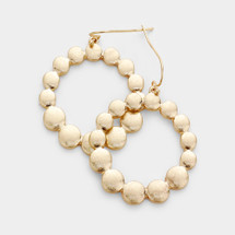 Domed Open Circle Earrings: Gold Or Silver