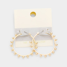 Gold Filled Golden Ball Hoops