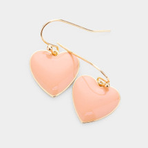 Peachy Heart Earrings