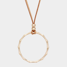 Circle Long Necklace - Gold