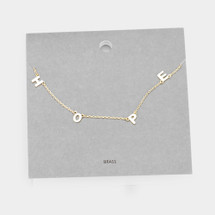 HOPE Necklace: Gold Or Silver