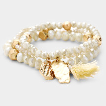 White Summer Nights Bracelet Set