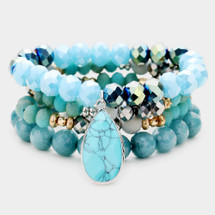 Turquoise & Blues Bracelet Set