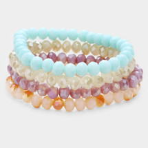 Spring Skies Natural Stone Bracelet Set