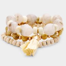 Naturals Semi Precious Stone Bracelet Set