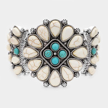 Tribal Hinged Bracelet