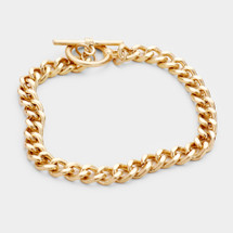 Classic Toggle Bracelet: Gold Or Silver