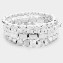 Silver Stretchy Stack Bracelet