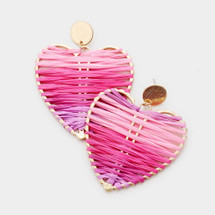Ombre Heart Strings Earrings
