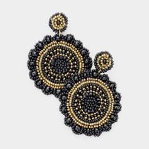 Black & Gold Statement Earrings