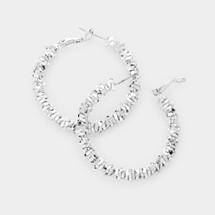 Metal Bead Hoops: Gold Or Silver