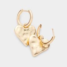 Heart Huggie Earrings: Gold Or Silver