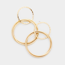 Double Drop Hoops: Gold Or Silver