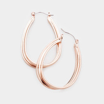 Triple Wire Hoops: Gold, Silver Or Rose